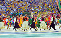 SAO PAULO - BRASIL -12-06-2014. Toda una fiesta de colores se vivió en la ceremonia de inauguración en el estadio Arena Corinthians de Sao Paulo previo al primer partido del grupo A entre Brasil y frente a Croaciade la fase inicial de la Copa Mundial de la FIFA Brasil 2014./ A feast took place in the opening ceremony at Arena Corinthians stadium in Sao Paulo prio the first match for the group A between Brazil and Croatia of the initial phase of 2014 FIFA World Cup Brazil. Photo: VizzorImage / Alfredo Gutiérrez / Cont