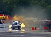Aug 19, 2016; Brainerd, MN, USA; NHRA funny car driver Brian Stewart during qualifying for the Lucas Oil Nationals at Brainerd International Raceway. Mandatory Credit: Mark J. Rebilas-USA TODAY Sports