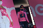 Egan Bernal (COL) Ineos Grenadiers retains the race leaders Maglia Rosa at the end of Stage 10 of the 2021 Giro d'Italia, running 139km from L'Aquila to Foligno, Italy. 17th May 2021.  <br /> Picture: LaPresse/Gian Mattia D'Alberto | Cyclefile<br /> <br /> All photos usage must carry mandatory copyright credit (© Cyclefile | LaPresse/Gian Mattia D'Alberto)