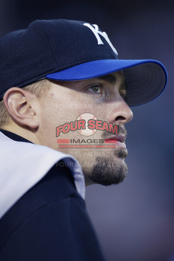 Jeremy Affeldt of the Kansas City Royals before a 2002 MLB season game against the Los Angeles Angels at Angel Stadium, in Anaheim, California. (Larry Goren/Four Seam Images)