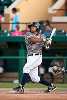 Angel Flores (7) of the Lakeland Flying Tigers during a game vs. the Tampa Yankees May 15 2010 at Joker Marchant Stadium in Lakeland, Florida. Tampa won the game against Lakeland by the score of 2-1.  Photo By Scott Jontes/Four Seam Images