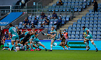 21st August 2020; Ricoh Arena, Coventry, West Midlands, England; English Gallagher Premiership Rugby, Wasps versus Worcester Warriors; Gareth Simpson of Worcester Warriors kicks the ball during the Gallagher Premiership Rugby match between Wasps and Worcester Warriors at Ricoh Arena on August 21st 2020 in Coventry England