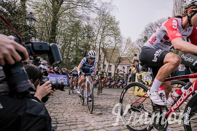 Trixi Worrack and Dani Christmas at the top of the Muur,  16th Ronde Van Vlaanderen<br /> <br /> Elite Womans Race (1.WWT)<br /> <br /> One day race from Oudenaarde to Oudenaarde<br /> ©Jojo Harper for Kramon