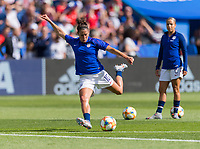 PARIS,  - JUNE 16: Carli Lloyd #10 warms up during a game between Chile and USWNT at Parc des Princes on June 16, 2019 in Paris, France.