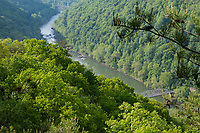 New River Gorge National Park, West Virginia. Old Bridge over the New River before construction of the New River Gorge Bridge.