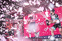 30th May 2021; 104th Giro d Italia 2021, 21st stage Senago to Milan, Italy;  Winner Egan Bernal COL, 2nd placed Damiano Caruso ITA9, Simon Yates GBR in 3rd place on the podium in Milan