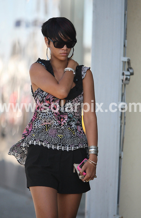 **ALL ROUND PICTURES FROM SOLARPIX.COM**.**WORLDWIDE SYNDICATION RIGHTS EXCEPT FOR USA, AUSTRALIA & GERMANY**.Chris Brown and Rihanna were spotted shopping together on Melrose Ave in West Hollywood, CA, USA. 21st August 2008..This pic: Rihanna..JOB REF: 7081 LAS       DATE: 21_08_2008.**MUST CREDIT SOLARPIX.COM OR DOUBLE FEE WILL BE CHARGED* *UNDER NO CIRCUMSTANCES IS THIS IMAGE TO BE REPRODUCED FOR ANY ONLINE EDITION WITHOUT PRIOR PERMISSION*