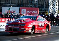 Nov 1, 2020; Las Vegas, Nevada, USA; NHRA pro stock driver Erica Enders during the NHRA Finals at The Strip at Las Vegas Motor Speedway. Mandatory Credit: Mark J. Rebilas-USA TODAY Sports