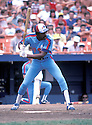 Montreal Expos Andre Dawson (10) in action during a game from 1983 against the New York Mets at Shea Stadium in Flushing Meadows, New York. Andre Dawson played for 21 years with 4 different teams and was inducted to the Baseball Hall of Fame in 2010.