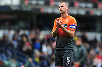 Mike van der Hoorn of Swansea City applauds the fans at the final whistle during the Sky Bet Championship match between Blackburn Rovers and Swansea City at Ewood Park in Blackburn, England, UK. Sunday 5th May 2019