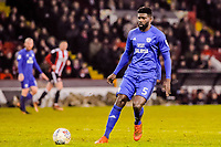 Cardiff City's defender Bruno Ecuele Manga (5) during the Sky Bet Championship match between Sheff United and Cardiff City at Bramall Lane, Sheffield, England on 2 April 2018. Photo by Stephen Buckley / PRiME Media Images.