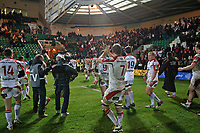 Friday 7th December 2012;  Ulster players thank their supporters after the Pool 4 round 3 Heineken Cup clash at Franklin's Gardens, Northampton, England. Image credit -: JOHN DICKSON / DICKSONDIGITAL