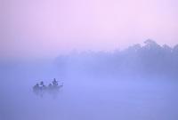Fishing in the morning fog, East Creek Pond, Belleplain State Park, Pine Barrens, New Jersey