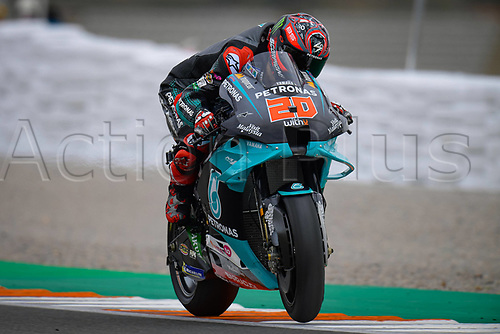 13th November 2020, Circuit Ricardo Tormo, Valencia, Spain;  MotoGP, Grand Prix of Valencia, free practise sessions;  20 Fabio Quartararo