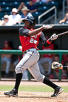 Denis Phipps (22) of the  Carolina Mudcats during a game vs. the Jacksonville Suns May 31 2010 at Baseball Grounds of Jacksonville in Jacksonville, Florida. Jacksonville won the game against Carolina by the score of 3-2. Photo By Scott Jontes/Four Seam Images