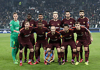 Football Soccer: UEFA Champions League Juventus vs FC Barcelona Allianz Stadium. Turin, Italy, November 22, 2017. <br /> FC Barcelona players pose for the pre match photograph prior to the Uefa Champions League football soccer match between Juventus and FC Barcelona at Allianz Stadium in Turin, November 22, 2017.<br /> UPDATE IMAGES PRESS/Isabella Bonotto