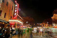 Crowds move up and down 6th Street during the SXSW Music Festival