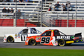 2017 NASCAR Camping World Truck Series - Active Pest Control 200<br /> Atlanta Motor Speedway, Hampton, GA USA<br /> Saturday 4 March 2017<br /> Timothy Peters and Grant Enfinger<br /> World Copyright: Nigel Kinrade/LAT Images<br /> ref: Digital Image 17ATL1nk06376