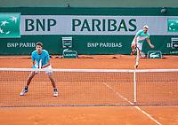 Paris, France, 01 June, 2018, Tennis, French Open, Roland Garros, Men's doubles: Matwe Middelkoop and Robin Haase (NED) (L)<br /> Photo: Henk Koster/tennisimages.com