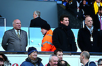The FA chairman Greg Dyke (left) and FIFA President Gianni Infantino (right) watch from the stands during the Barclays Premier League match between Swansea City and Norwich City played at The Liberty Stadium, Swansea on March 5th 2016