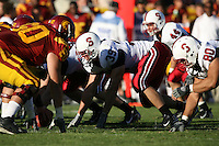 6 October 2007: Brian Bulcke during Stanford's 24-23 win over the #1 ranked USC Trojans in the Los Angeles Coliseum in Los Angeles, CA.