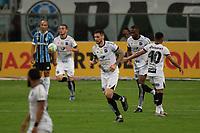 14th November 2020; Arena de Gremio, Porto Alegre, Brazil; Brazilian Serie A, Gremio versus Ceara; Tiago Pagnussat of Ceará celebrates his goal in the 91th minute for 4-2