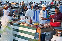 Stone Town, Zanzibar, Tanzania.  Forodhani Gardens Food Vendors.