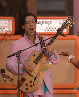 NEW YORK - JUNE 16: Musician Prince performs onstage with Tamar aka Tamar Davis on Good Morning America on June 16, 2006 in New York, New York<br /> <br /> <br /> People:  Prince