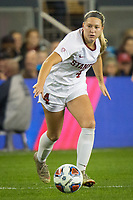 Stanford, CA - December 8, 2019: Belle Briede at Avaya Stadium. The Stanford Cardinal won their 3rd National Championship, defeating the UNC Tar Heels 5-4 in PKs after the teams drew at 0-0.