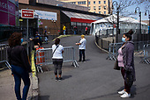 Queen, New York<br /> April 25, 2020<br /> Elmhurst<br /> <br /> People line up to be tested for coronavirus at the Elmhurst Hospital at the epicenter of the coronavirus pandemic in New York City and the Untied States.