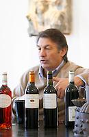 Michel Julien. Rose wine, cuvee Ourdivieille, red wine. Chateau Villerambert-Julien near Caunes-Minervois. Minervois. Languedoc. Owner winemaker. France. Europe. Bottle.