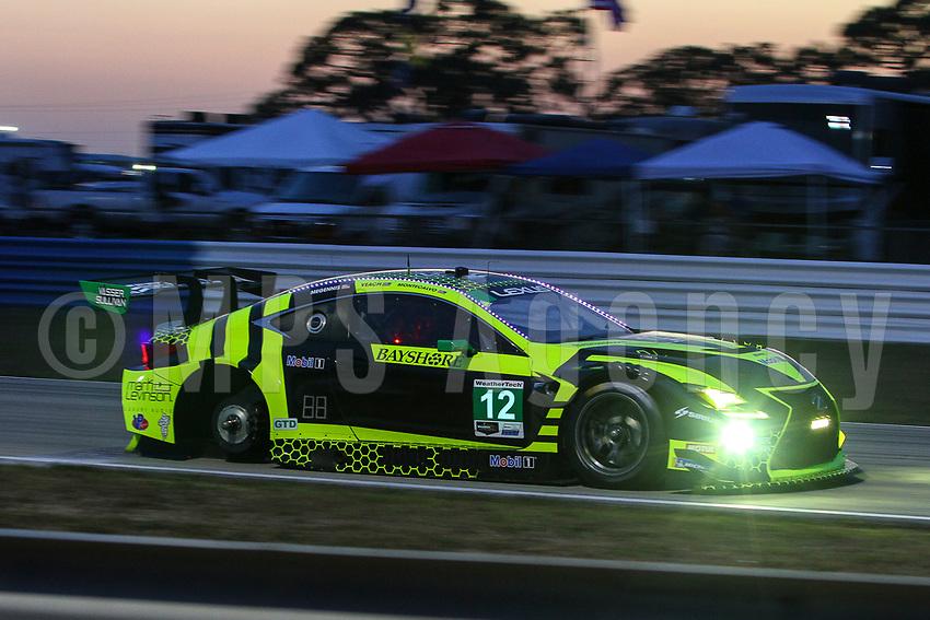 #12 VASSER SULLIVAN RACING(USA) LEXUS RC F GT3 GTD - ROBERT MEGENNIS (USA) ZACH VEACH (USA) FRANKIE MONTECALVO (USA)