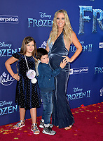 """LOS ANGELES, USA. November 08, 2019: Teddi Mellencamp, Slate Arroyave & Cruz Arroyave at the world premiere for Disney's """"Frozen 2"""" at the Dolby Theatre.<br /> Picture: Paul Smith/Featureflash"""