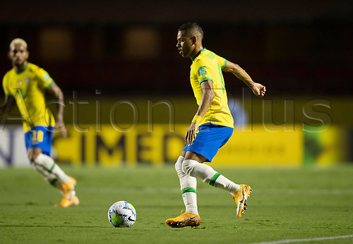 13th November 2020; Morumbi Stadium, Sao Paulo, Sao Paulo, Brazil; World Cup 2022 qualifiers; Brazil versus Venezuela; Renan Lodi of Brazil