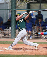 Mikey White - Oakland Athletics 2018 spring training (Bill Mitchell)