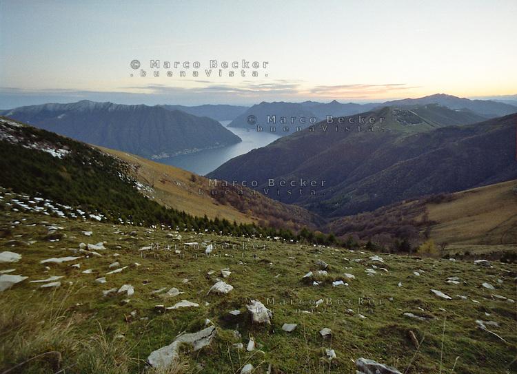 Veduta verso il Lago di Como dal Monte Tremezzo --- View towards Lake Como from Mount Tremezzo