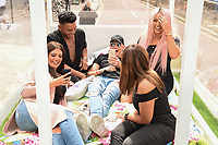 Abbie Holborn, Nathan Henry, Scotty T, Chloe Ferry and Sophie Kasaei<br /> Cast members of Geordie Shore take Shag Pad on Tour to launch series 15, London. <br /> <br /> <br /> ©Ash Knotek  D3293  10/08/2017