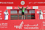 David Dekker (NED) Jumbo-Visma retains the points Green Jersey at the end of Stage 6 of the 2021 UAE Tour running 165km from Deira Island to Palm Jumeirah, Dubai, UAE. 26th February 2021.<br /> Picture: LaPresse/Gian Mattia D'Alberto   Cyclefile<br /> <br /> All photos usage must carry mandatory copyright credit (© Cyclefile   LaPresse/Gian Mattia D'Alberto)