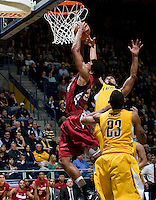 STANFORD, CA - January 29th, 2012: Josh Huestis of Stanford shoots the ball during a basketball game against California at Haas Pavilion in Berkeley, California.   California won 69-59 against Stanford.