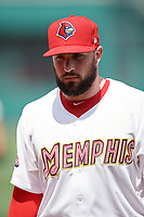 Memphis Redbirds Mark Montgomery after a game against the Iowa Cubs on May 29, 2017 at AutoZone Park in Memphis, Tennessee.  Memphis defeated Iowa 6-5.  (Mike Janes/Four Seam Images)