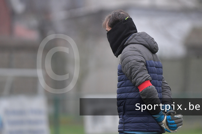 Goalkeeper coach Emmanuel Lepore of Sporting Charleroi pictured during a female soccer game between SV Zulte - Waregem and Sporting Charleroi on the eleventh matchday of the 2020 - 2021 season of Belgian Scooore Womens Super League , saturday 23 th of January 2021  in Zulte , Belgium . PHOTO SPORTPIX.BE | SPP | DIRK VUYLSTEKE