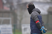 Goalkeeper coach Emmanuel Lepore of Sporting Charleroi pictured during a female soccer game between SV Zulte - Waregem and Sporting Charleroi on the eleventh matchday of the 2020 - 2021 season of Belgian Scooore Womens Super League , saturday 23 th of January 2021  in Zulte , Belgium . PHOTO SPORTPIX.BE   SPP   DIRK VUYLSTEKE