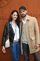 Alban Lenoir and girlfriend Anne Serra seen at 'Le Village de Roland Garros' during Roland Garros tennis open 2016.