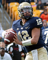 Pitt quarterback Tino Sunseri. The Pitt Panthers defeated the Louisville Cardinals 20-3 at Heinz Field, Pittsburgh Pennsylvania on October 30, 2010.