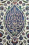 Iznik 07 - Iznik tile panel in the Mausoleum of Sultan Selim II, Aya Sofya, Sultanahmet, Istanbul, Turkey