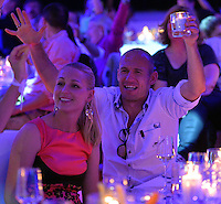 10.05.2014, Postpalast, Muenchen, GER, 1. FBL, FC Bayern Muenchen Meisterfeier, im Bild Arjen Robben of FC Bayern Muenchen celebrates Arjen Robben, // during official Championsparty of Bayern Munich at the Postpalast in Muenchen, Germany on 2014/05/11. EXPA Pictures © 2014, PhotoCredit: EXPA/ Eibner-Pressefoto/ EIBNER<br /> <br /> *****ATTENTION - OUT of GER***** <br /> Football Calcio 2013/2014<br /> Bundesliga 2013/2014 Bayern Campione Festeggiamenti <br /> Foto Expa / Insidefoto