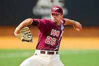 Virginia Tech Hokies starting pitcher Eddie Campbell #26 in action against the Wake Forest Demon Deacons at Wake Forest Baseball Park on April 21, 2012 in Winston-Salem, North Carolina.  The Demon Deacons defeated the Hokies 8-6.  (Brian Westerholt/Four Seam Images)