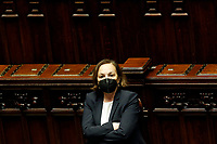 The Minister of Internal Affairs Luciana Lamorgese at the Chamber of Deputies during the discussion and vote of confidence in the new Government. Rome (Italy), February 18th 2021<br /> Photo Samantha Zucchi Insidefoto