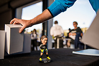 Seattle, WA - Sunday, September 24th, 2017: Seattle Reign FC handed out Hope Solo bobble head dolls prior to a regular season National Women's Soccer League (NWSL) match between the Seattle Reign FC and FC Kansas City at Memorial Stadium.