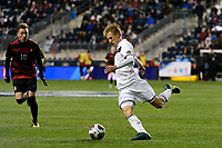 Chester, PA - Friday December 08, 2017: Skye Harter The Stanford Cardinal defeated the Akron Zips 2-0 during an NCAA Men's College Cup semifinal match at Talen Energy Stadium.